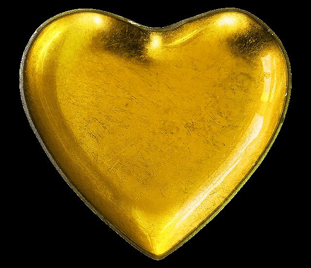 金色のハート